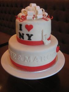 Bruidstaartje met New York thema