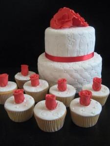 Taart - Cupcakes - Rood en Wit