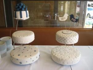 Allerlei verschillende patronen op de taarten