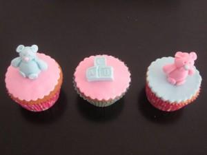 Cupcakes beertjes en blokjes