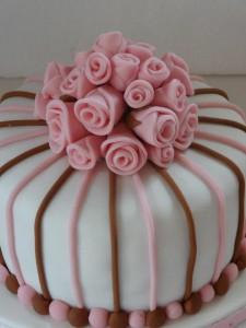 Lief roze met bruin taartje