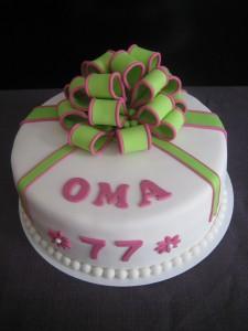 Lief taartje voor oma