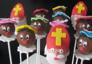 Cakepops Sinterklaas en Piet