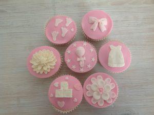 Happy babygirl cupcakes